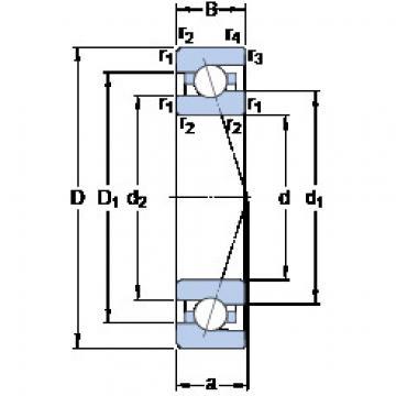 المحامل 7007 CE/HCP4A SKF